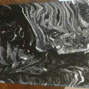 Black and White Paint Pour